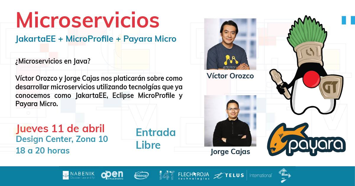 Conferencia 2019.04 | JakartaEE + MicroProfile + Payara Micro