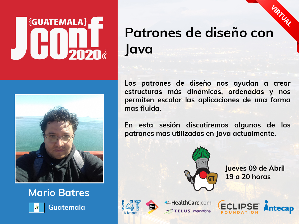 Meetup virtual 2020.04 | Patrones de diseño con Java