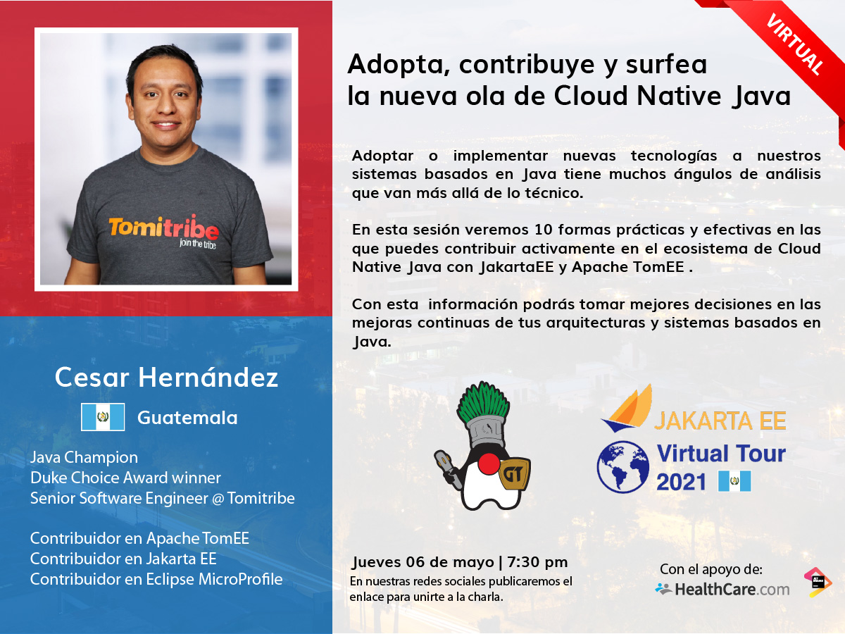 Desconferencia 2021.05 | Aprende, contribuye y surfea con Cloud Native Java